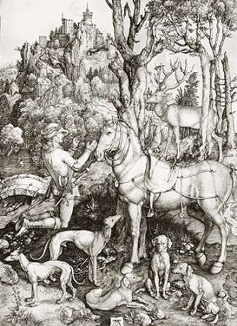 Saint Eustace Poster Print by Albrecht Durer - Item # VARPDX266252