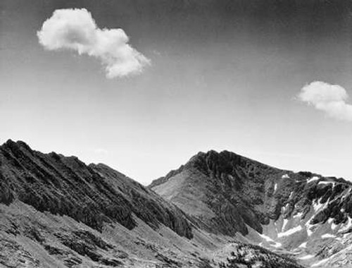 Coloseum Mountain, Kings River Canyon, proVintageed as a national park, California, 1936 Poster Print by Ansel Adams - Item # VARPDX460809