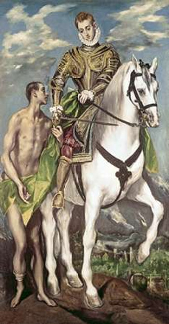 Saint Martin and The Beggar Poster Print by El Greco - Item # VARPDX277483