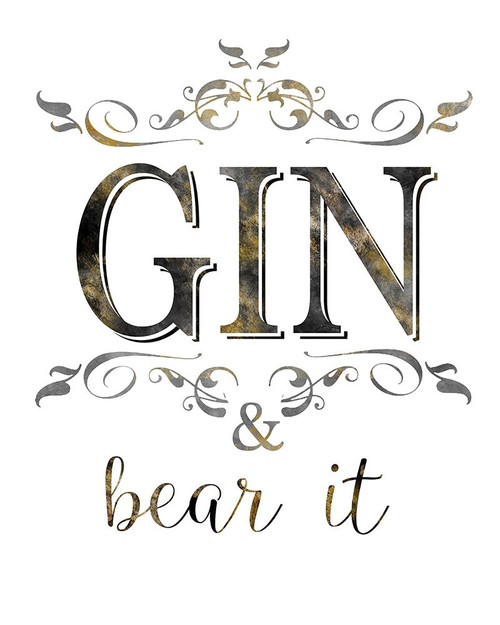 Gin and Bear It Poster Print by Kelly Donovan - Item # VARPDX18586