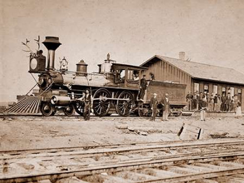 Wyoming Station, Engine 23 on Main Track, May 1868 Poster Print by A.J. Russell - Item # VARPDX455384