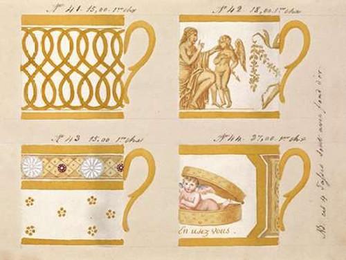 Quatre tasses avec fond dor, ca. 1800-1820 Poster Print by Honore - Item # VARPDX454917