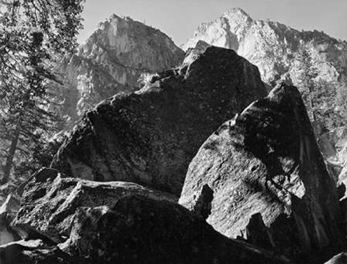 Grand Sentinel, Kings River Canyon, proVintageed as a national park, California, 1936 Poster Print by Ansel Adams - Item # VARPDX460792