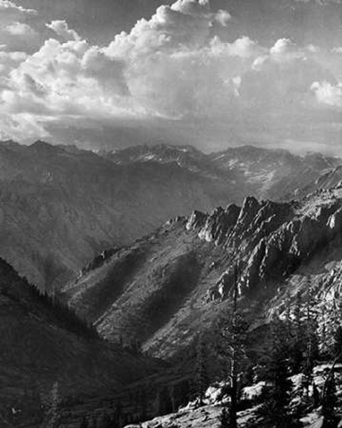 Middle Fork at Kings River from South Fork of Cartridge Creek, Kings River Canyon, proVintageed as a Poster Print by Ansel Adams - Item # VARPDX460815
