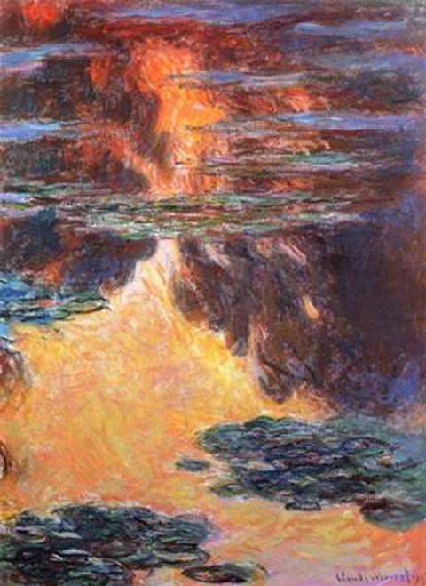 Nympheas Sunset Effect 1907 Poster Print by Claude Monet - Item # VARPDX373820