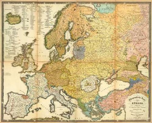 Karte Der Magnetischen Meridiane Und Parallel Kreise 1840 Poster Print By Heinrich Berghaus Item Varpdx294941 Posterazzi