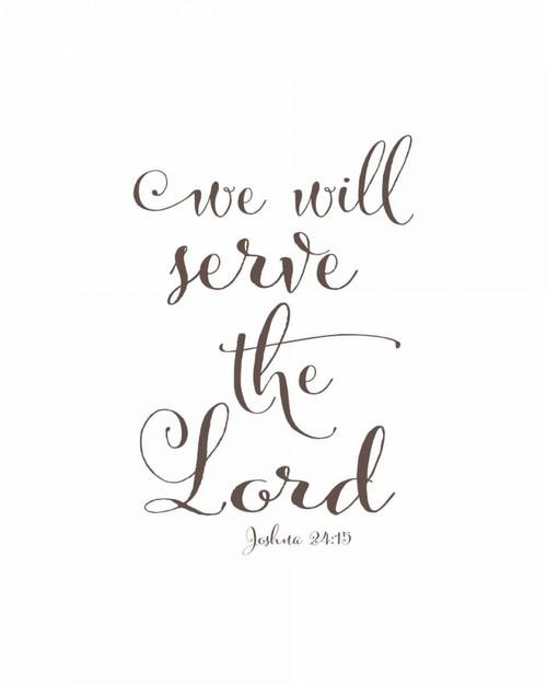 We Will Serve the Lord Poster Print by Tara Moss - Item # VARPDXTA1939