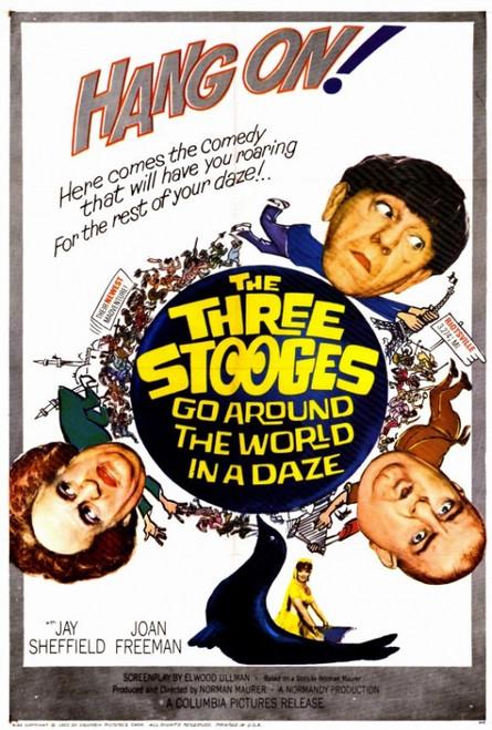 Three Stooges Go Around the World in a Daze Movie Poster Print (27 x 40) - Item # MOVGF2421