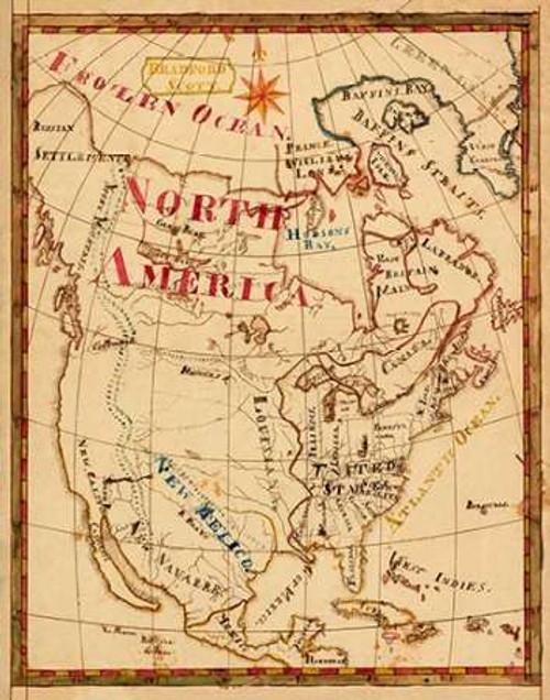 North America, 1816 Poster Print by Bradford Scott - Item # VARPDX295235
