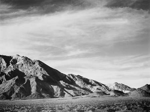 View of mountains near Death Valley, California - National Parks and Monuments, 1941 Poster Print by Ansel Adams - Item # VARPDX460718