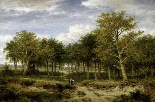 Wooded Landscape Near Surrey Poster Print by Benjamin Williams Leader - Item # VARPDX278212