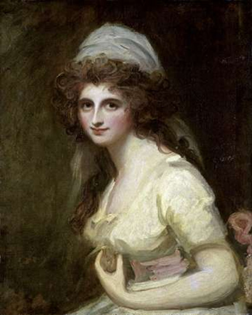Lady Hamilton in a White Turban Poster Print by George Romney - Item # VARPDX282759