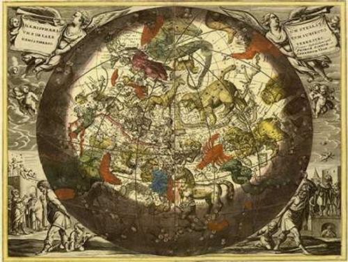 Maps of the Heavens: Hemisphaerium Stellatum Boreale Cum Subiecto Poster Print by Andreas Cellarius - Item # VARPDX450112