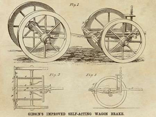 Gibsons Improved Self-Acting Wagon Brake Poster Print by Inventions - Item # VARPDX376285