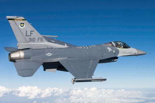 F-16C Fighting Falcon during a sortie over Arizona Poster Print by Erik Roelofs/Stocktrek Images - Item # VARPSTERK100017M