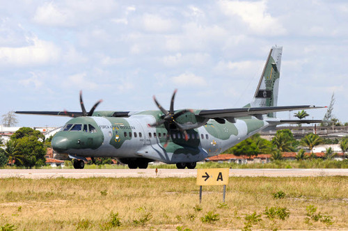 Brazilian Air Force C-105 on the runway at Natal Air Force Base Poster Print by Riccardo Niccoli/Stocktrek Images - Item # VARPSTRCN100112M