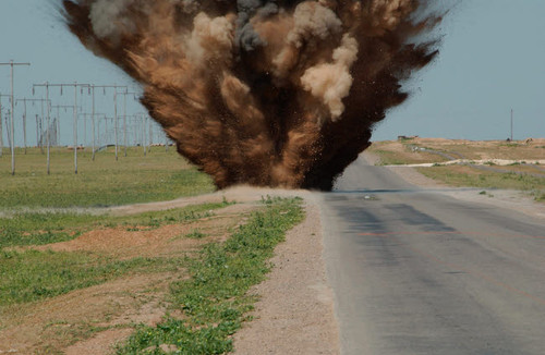 An Improvised Explosive Device destroyed by C-4 explosives Poster Print by Stocktrek Images - Item # VARPSTSTK100013M
