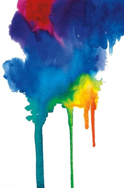Bold Color - Rainbow Watercolor Poster Print - Item # VARTIARP15948