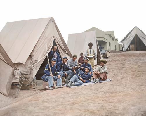 71st New York Infantry at Camp Douglas during the American Civil War Poster Print by Stocktrek Images - Item # VARPSTSTK501224A