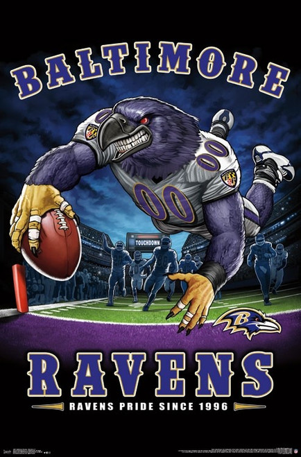 Baltimore Ravens - End Zone Poster Print - Item # VARTIARP15971