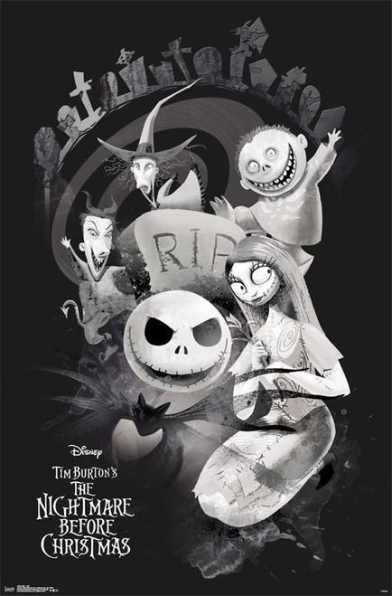 The Nightmare Before Christmas - RIP Poster Print - Item # VARTIARP15488