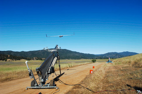 A ScanEagle unmanned aerial vehicle is launched from its catapult Poster Print by Stocktrek Images - Item # VARPSTSTK105767M
