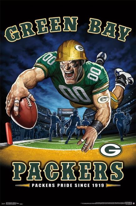 Green Bay Packers - End Zone Poster Print - Item # VARTIARP15980