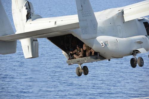 An MV-22 Osprey aircraft takes off Poster Print by Stocktrek Images - Item # VARPSTSTK108325M