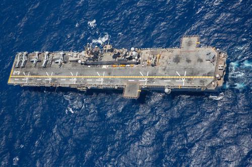 Amphibious assault ship USS Kearsarge transits the Red Sea Poster Print by Stocktrek Images - Item # VARPSTSTK107643M