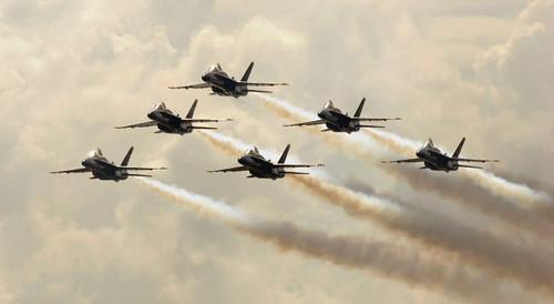 The Blue Angels perform their delta formation during an air show Poster Print by Stocktrek Images - Item # VARPSTSTK101446M