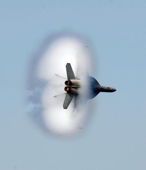 An F/A-18F Super Hornet completes a super-sonic flyby Poster Print by Stocktrek Images - Item # VARPSTSTK101627M
