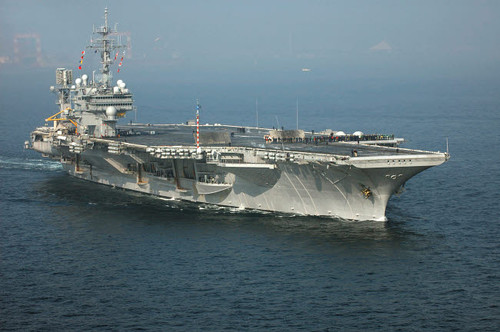 The conventionally powered aircraft carrier USS Kitty Hawk Poster Print by Stocktrek Images - Item # VARPSTSTK100828M