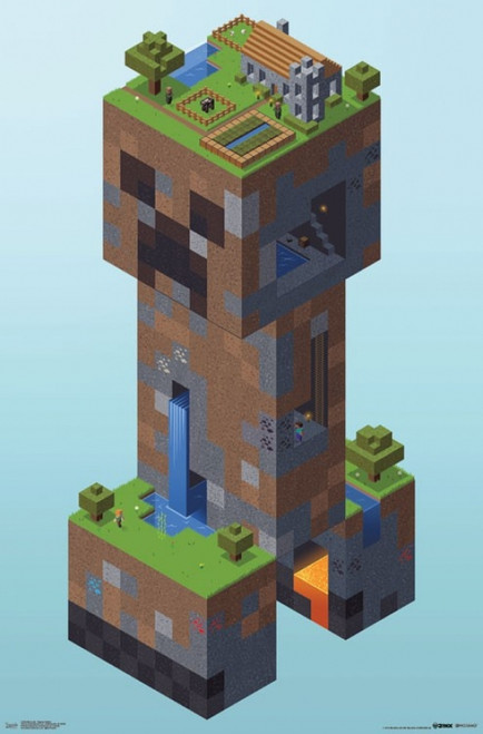 Minecraft - Creeper Village Poster Print - Item # VARTIARP15355