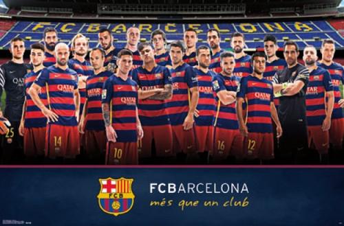 FC Barcelona - Team 15 Poster Print - Item # VARTIARP14487