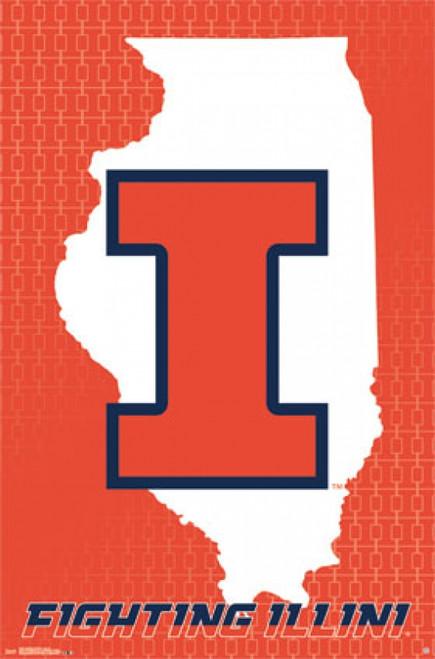 University of Illinois - Logo 14 Poster Print - Item # VARTIARP13559