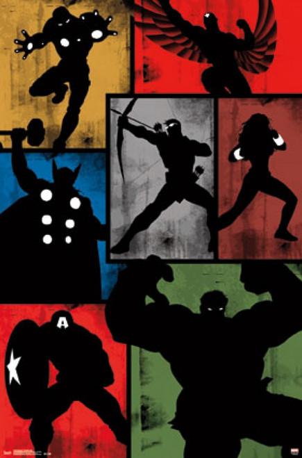 Avengers - Simplistic Grid Poster Print - Item # VARTIARP14323