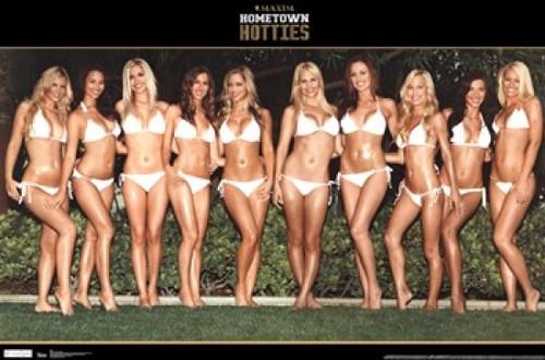 Maxim - Hotties in White Poster Print - Item # VARTIARP5624