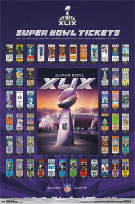 Super Bowl XLIX - Tickets Poster Print - Item # VARTIARP13714