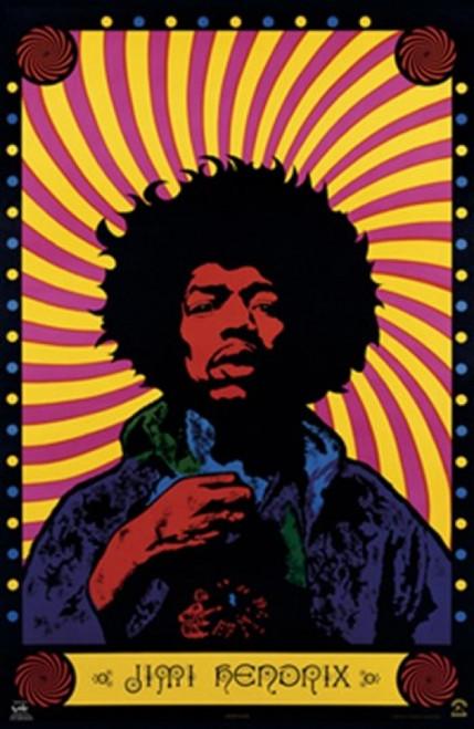 Jimi Hendrix- Psychodelic Poster Print - Item # VARTIARP8105