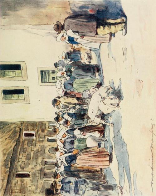 Brittany 1912 Pig market Poster Print by  Mortimer Menpes - Item # VARPPHPDA69449