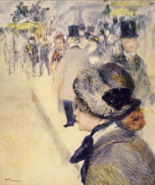 Crossing the square Poster Print by  Pierre-Auguste Renoir - Item # VARPPHPDA71329