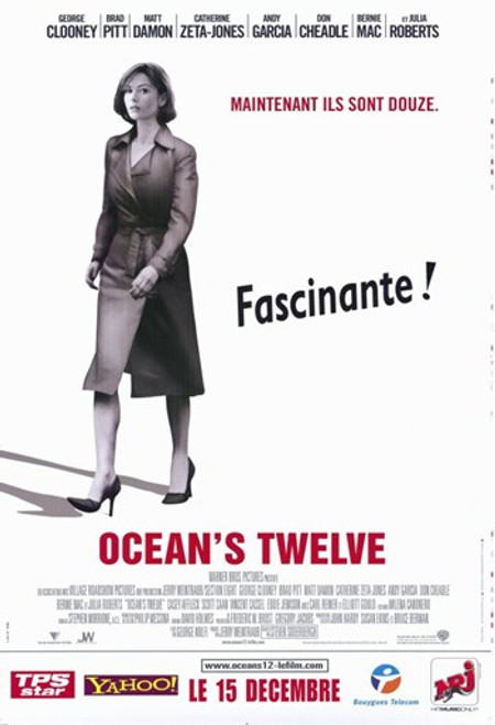 Ocean's Twelve Movie Poster (11 x 17) - Item # MOV250217