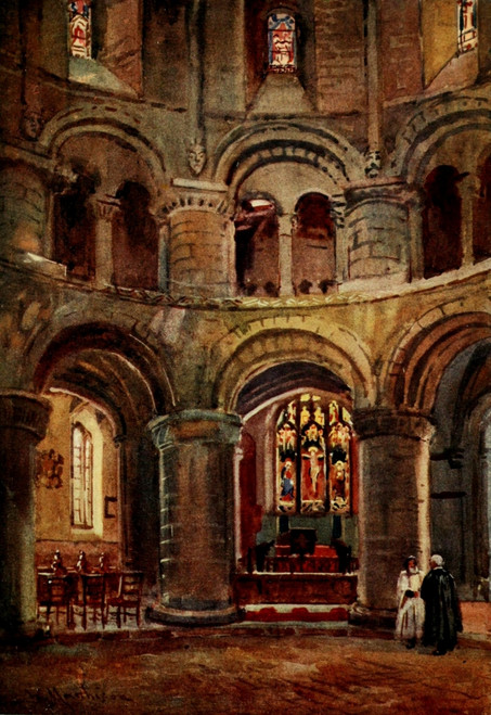 Cambridge 1907 Norman church of Holy Sepulchre Poster Print by  William Matthison - Item # VARPPHPDA65774