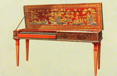 Musical Instruments 1921 Clavichord Poster Print by  William Gibb - Item # VARPPHPDP83397