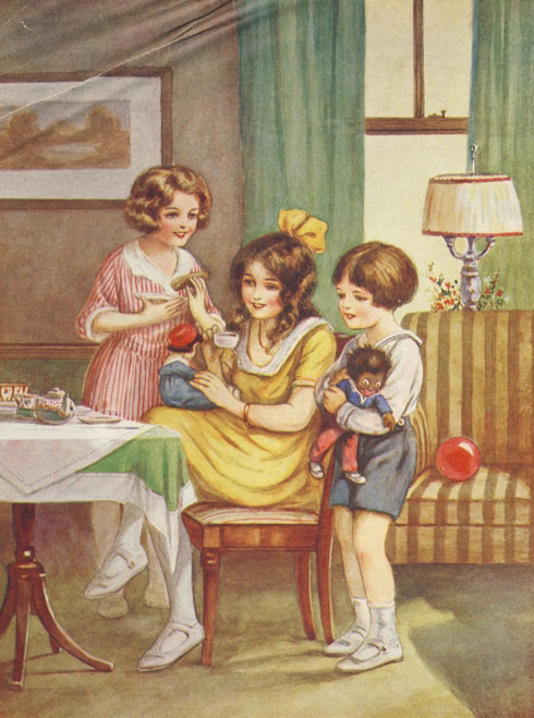 Little Frolic 1925 Doll's tea party Poster Print by Unknown - Item # VARPPHPDA70861