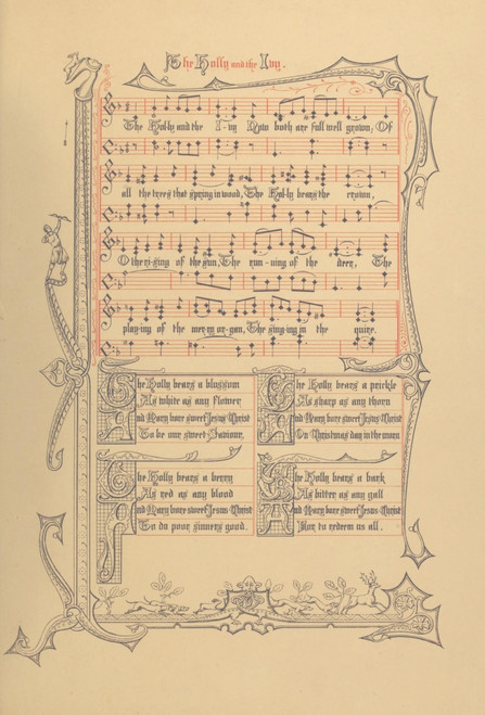 Holly & the Ivy Traditional Old English Carols set to Music 1870s Poster Print - Item # VARPPHPD50668