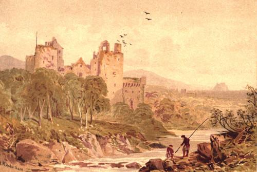 Picturesque Scottish Scenery 1875 Doune Castle Poster Print by  Thomas C.L. Rowbotham - Item # VARPPHPDA66209