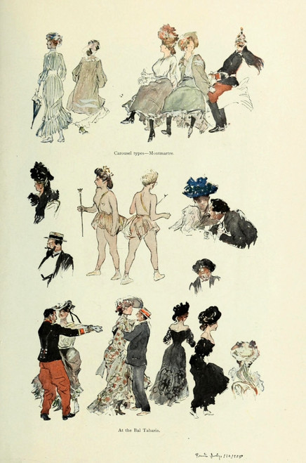 Scribner's Magazine 45 1909 At the Bal Tabarin Poster Print by  George Wright - Item # VARPPHPDA64211