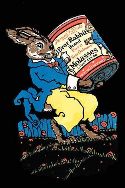Original advertising for pure New Orleans light color molasses featuring a favorite children's character, Brer Rabbit. Poster Print by unknown - Item # VARBLL0587334452