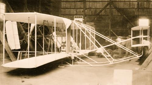 Wright aeroplane, in hangar, Washington Poster Print - Item # VARBLL058749502L